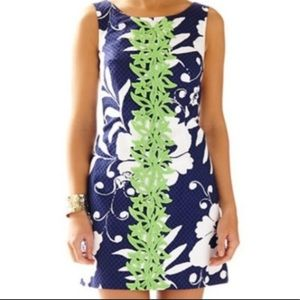 Lilly Pulitzer Navy Floral Delia Shift Dress 0